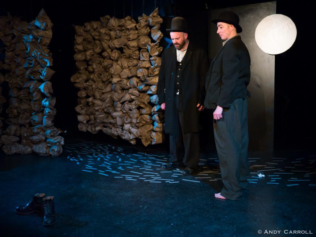 Vladimir (Dan Smith), Estragon (Kate Story), and Gogo's boots