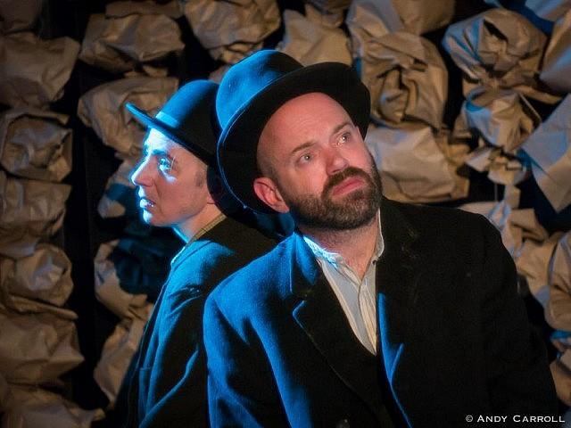 Estragon (Kate Story) and Vladimir (Dan Smith)