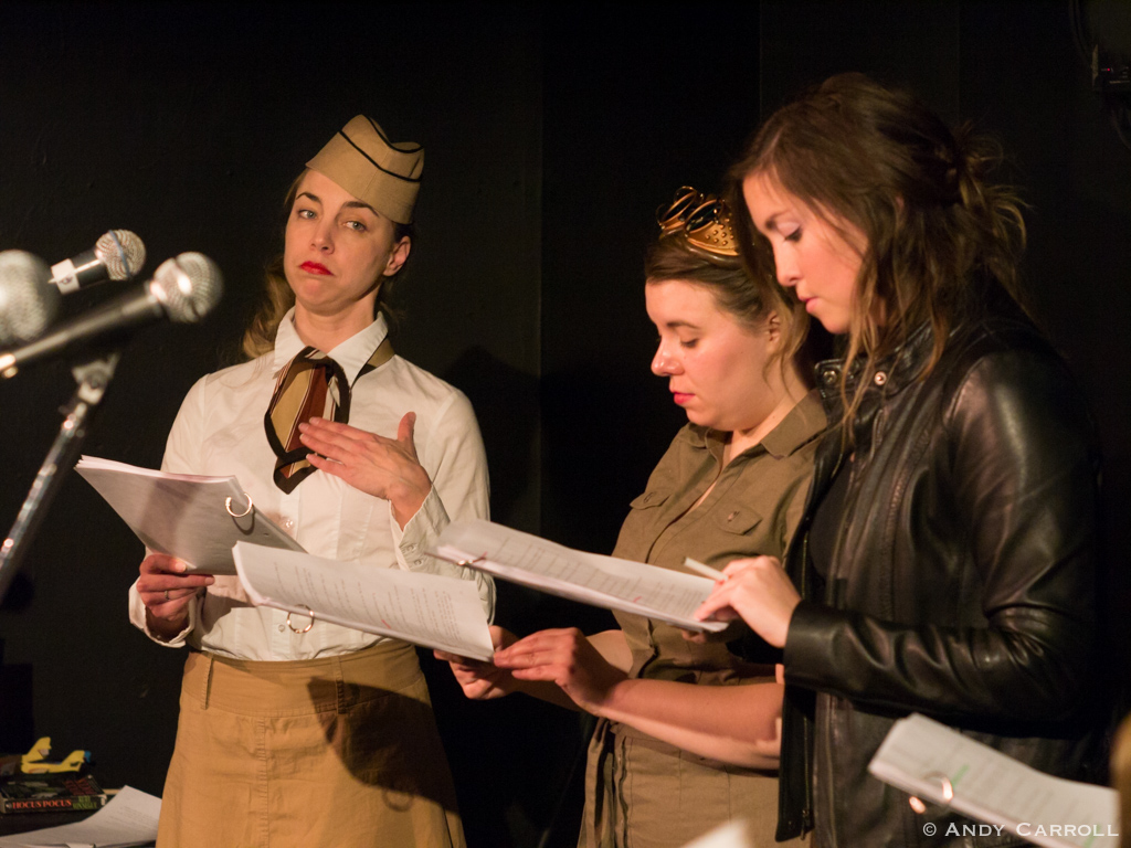 Lillian Steel (Marsala Lukianchuk), Peggy Sparks (Melanie Dubois), and Giselle Gaullier (Jessica Latone)