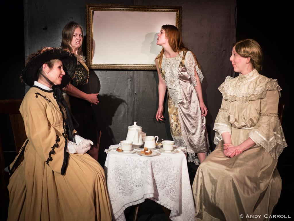 Margaret (Carol Lawless), Maggie (Hilary Wear), Hetty (Naomi DuVall), and Harriet (Sam Sayer)