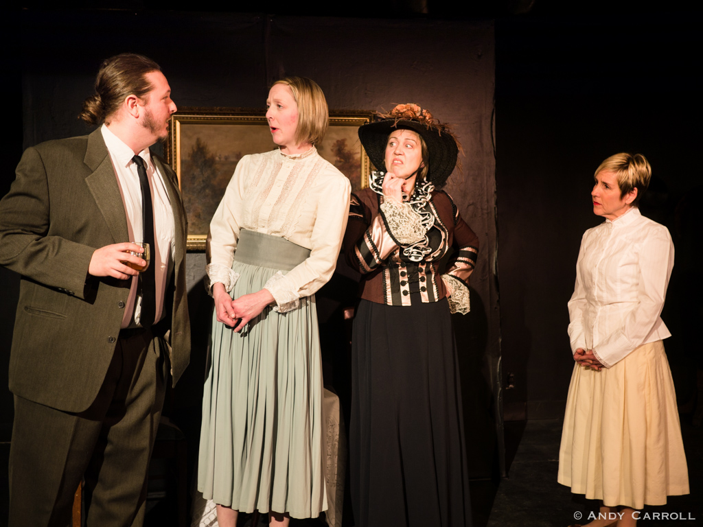 Felix (Jon Hedderwick), Enid (Sam Sayer), Mrs. Packard (Hilary Wear), and Diana (Carol Lawless)
