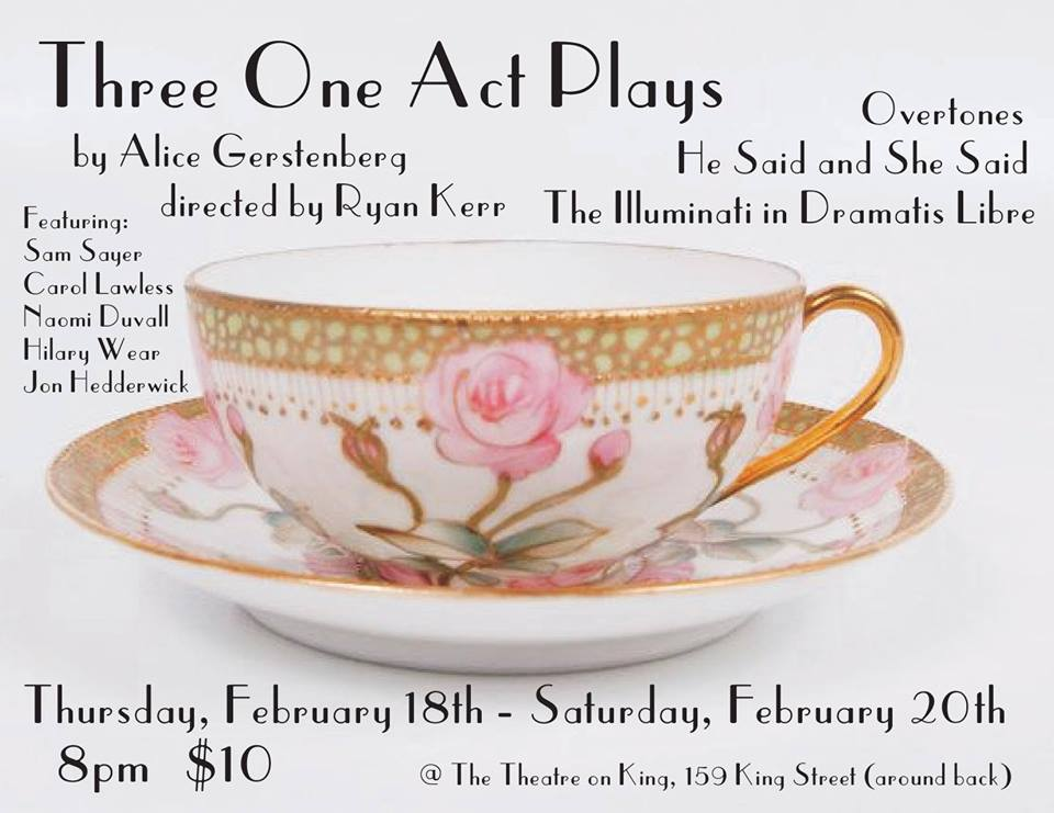 three one act plays poster