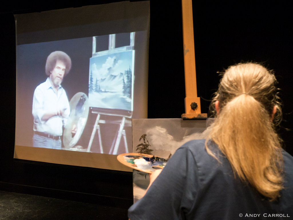 The man himself, Bob Ross