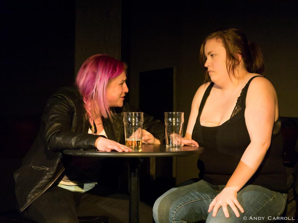 Gladys (Amy Cummings) and Peggy (Meg O'Sullivan)
