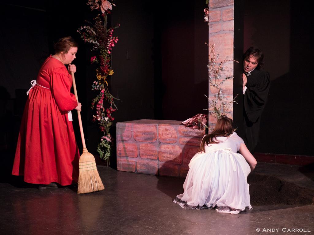 Sty (Meg O'Sullivan), Celia (Elizabeth Moody), and Canon (Matt Gilbert)