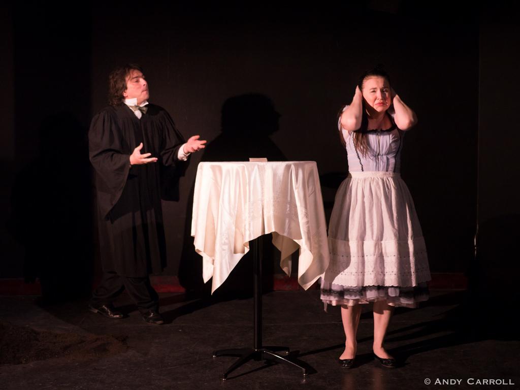 Canon (Matt Gilbert) and Celia (Elizabeth Moody)