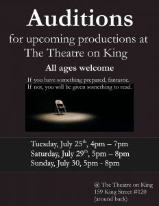 Auditions for 2017/2018 Productions at TTOK
